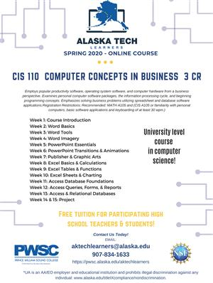 CIS 110 Computer Concepts in Business